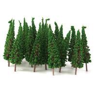 "50 HO Scale Green Model Trees Layout Train Railway Road Diorama Scene 2.56"""