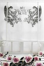 ENGEL Raffrollo 120x120cm White Living Dekogardine Raffgardine Landhaus Shabby