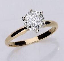 Anillos de joyería con diamantes en oro amarillo diamante VS1