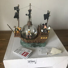 More details for disney paris mickey goofy donald snowglobe pirates ship boxed tags collectable