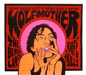 Wolfmother Concert Poster 2006 Justin Hampton