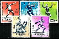 ESPAÑA. 1964. SERIE COMPLETA. JUEGOS OLIMPICOS (ED. 1617 A 1621)