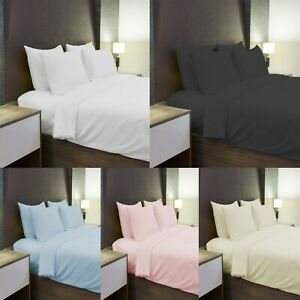 Thermal Flannelette Sheets 100% Brushed Cotton. Fitted Or Flat Bed. Pillow Cases