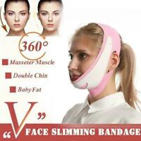 New V-Line Thin Face Lift Adjustable Slimming Chin Strap Band Face Mask O1P4