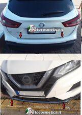 piastra paraurto posteriore+anteriore in acciaio cromo per Nissan Qashqai 17-19