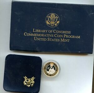 2000-W Library of Congress $10 with Box and COA
