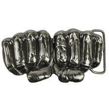 Iron Star Hand Fist Knuckles Metal Belt Buckle Accessory Novelty Punk Rock Brand