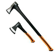 FUXTEC 2er Axt-Set Beil Spalthammer Spaltbeil Spaltkeil Universal Spaltaxt Axt