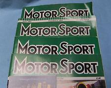 Motor Sport Magazine: DEcember 2000