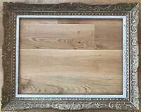 Cadre photo style art déco blanc-or antique rectangulaire 56x46 baroque 30x40 fond de panier