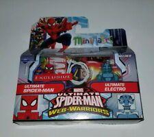 Marvel Minimates Ultimate Spider-Man & Electro Exclusive Web Warriors Figures