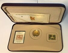 2001 ~ 150th Anniversary of First Canadian POSTAGE STAMP w/ 24K gold-plated coin