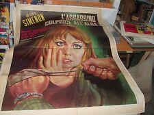 L'ASSASSINO COLPISCE ALL'ALBA manifesto 2F originale 1969 SIMENON