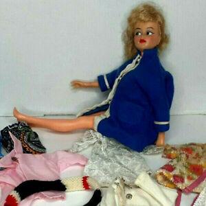 Vtg IDEAL TAMMY FRIEND MISTY Doll Size Lot Barbie Clothes GLAMOUR M-12 Blue Coat