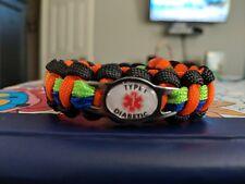 Type 1 Diabetic Custom Paracord Bracelet - FREE SHIPPING
