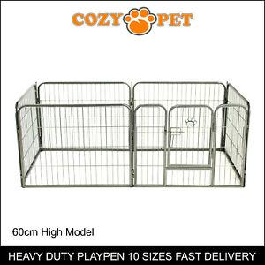 Heavy Duty Cozy Pet Puppy Playpen 60cm High 6 Panel Run Crate Pen Dog Cage