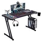 Gaming+Desk+47%E2%80%99%E2%80%99+Computer+Table+Z-Shaped+Ergonomic+Home+Office+Gamer+Workstation