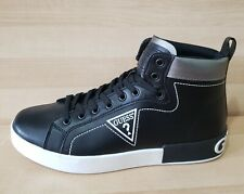 GUESS Men's ALMOND Logo High-Top Sneakers size: 10 Black Athletic Fashion shoes