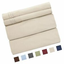 King Size Sheet Set - 4 Piece - Hotel Luxury Bed Sheets - Extra. Free Shipping