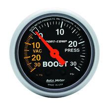 "Auto Meter 3303 Sport-Comp Mechanical Turbo Boost / Vacuum Gauge 2 1/16"" (52mm)"