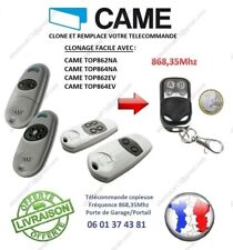 Télécommande clone CAME TOP 862, TOP 864 fréq 868,35Mhz pour Garage Portail
