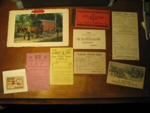 Collection of 1880's 1900's Ice Company Ephemera