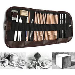 29 Pcs Professional Drawing Artist Kit Set Pencils and Sketch Charcoal Art Tools