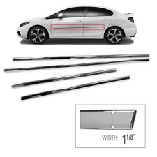For 2012 2013 2014 2015 Honda Civic Chrome Side Skirt Trim