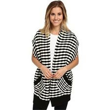 FOX Women's Shifter Cardigan Black & White stripe Size medium $60 retail NWT D8