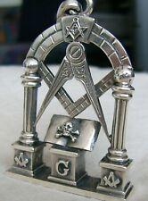 Freimaurer Anhänger Altar  Silber 925 Heilige Bibel Schädel Knochen Memento Mori