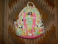 Grip High Sierra ~ Pink Green & White Butterfly Patterned Backpack ~ NGUC