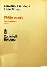 DIRITTO PENALE - FIANDACA - MUSCO - ZANICHELLI - 1991