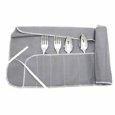 12 Section SALAD FORK Storage Roll Silverware silver Wrap Bag non anti tarnish