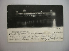 VINTAGE POSTCARD NIGHT VIEW OF THE CASINO IN ASBURY PARK NEW JERSEY 1905 UDB