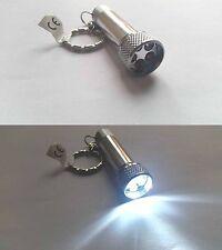 Silver Torch Pen Key Ring With 5 Ultra Bright LED Lights BNIB