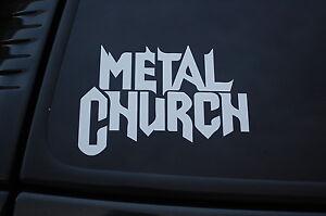 Metal Church Vinyl Sticker Decal (V264) Rock Metal Death Choose Color & Size!!
