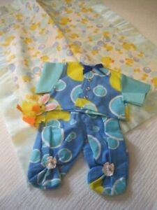 Handmade duckie jammies fits doll 13-14 inch