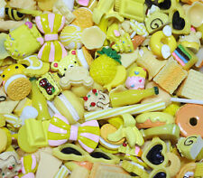 20 pcs mixed Wholesale Lot Yellow Color Cute Kawaii Flatback Resin Cabochons