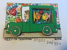 "James Rizzi: original 3D ""KEEP ON TRUCKING"", handsigniert, vergriffen, Mini 2002"