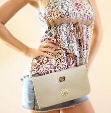 MG Collection Satchel Handbag / Baguette Style Evening Purse Light Gray/Clay