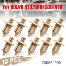 10Pcs Plastic Rivet Trim Door Panel Fastener Clips Door For VOLVO C70/S60/S80