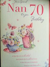 Nan 70th Birthday Card - Loving Verse