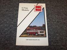 1990 GMC G10 G20 G30 Van Original Owner Owner's Operator User Guide Manual V8