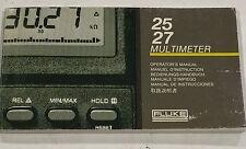 FLUKE 25/27 Multimeter Operator's Manual P/N 738088