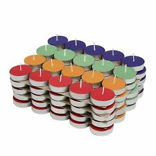 Colored Wax Tealight Candles (Set of 100, Unscented)
