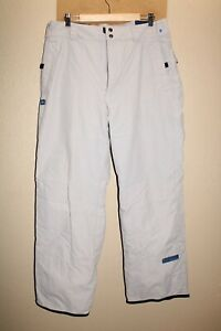 """COLUMBIA Mens Large L 36""""W 32""""L gray insulated Snow/Snowboard Pants"""