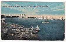 NEW YORK YACHT CLUB Annual Cruise PC Postcard NEW LONDON Connecticut CT Boats
