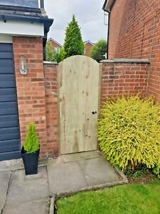 Wooden gate heavy duty ARCHED fully framed pressure treated solid garden gate