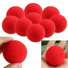 "5x Red Sponge Balls 4.5cm Magic Trick Clown Foam Soft 1.75"" Party Close-Up UK"