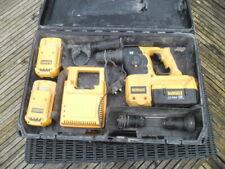 USED DeWALT DC234 36v SDS + 3 batteries / Charger / Case FREE UK POSTAGE